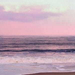 Purple Sunset Wall Art | Nautical Art Decor | Seascape landscapes Wall Art