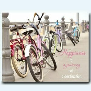 Beach Bike Wall Art | Large Canvas Wall Art | Bike Lover Motivational Gift