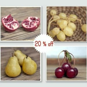 4 Piece Fruits Wall Art