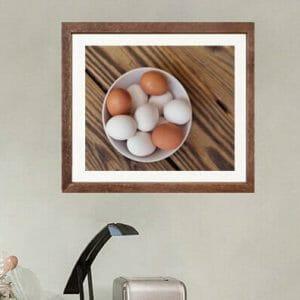 Rustic Kitchen Wall Decor | Egg Wall Art | Still Life Food Wall Art