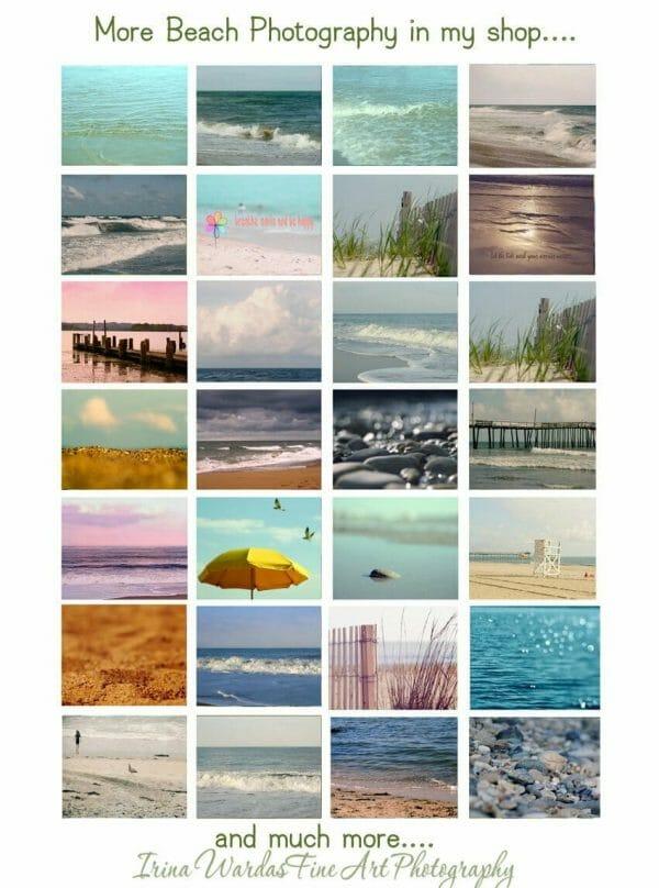 Beach Umbrellas Landscape Wall Art | Coastal Art Decor | Rehoboth Beach Wall Art