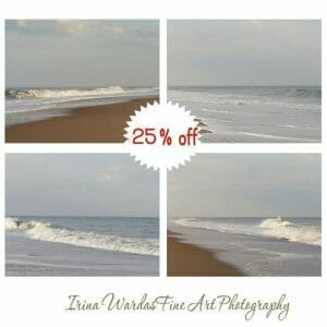 Coastal Wall Art Photography | Pale Blue Grey | Ocean Wall Art