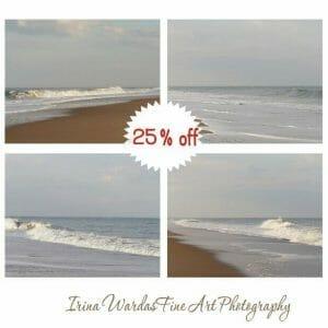 Coastal Wall Art Photography | Pale Blue Grey | Ocean Wall Art