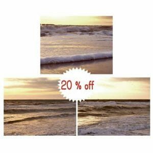 Shabby Chic Beach Decor | Nautical Bathroom Wall Art | Sunset Wall Art