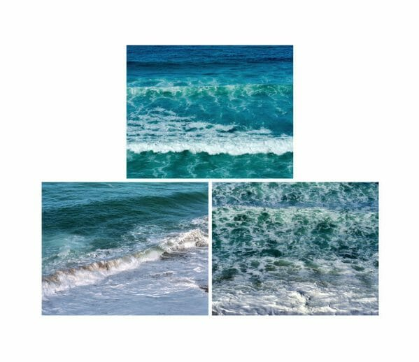 Shabby Chic Ocean Wall Decor | Navy Blue Turquoise Teal | Wall Art Set