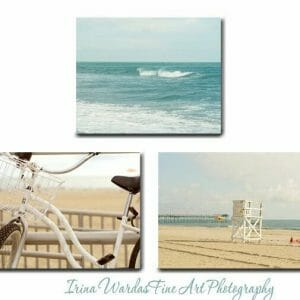 Shabby Chic Coastal Landscape Wall Decor | Beige Nautical Wall Art