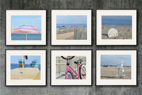 Shabby Chic Beach Wall Decor   Virginia Beach   Modern Nautical Wall Art