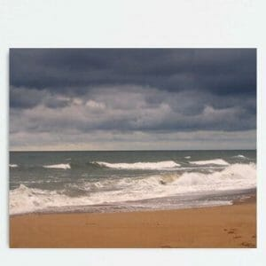 Stormy Ocean Wall Art | Nautical Art Decor | Virginia Beach Wall Art