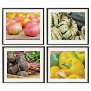 Vegetable Wall Decor Set of 4