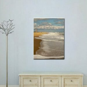 Ocean Beach Wall Art | Coastal Home Art Decor | Virginia Beach Wall Art