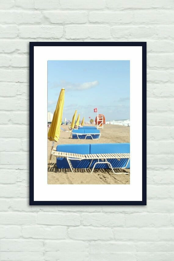 Beach Umbrellas and Chairs Wall Art | Colorful Beach Wall Art | Virginia Beach Wall Decor