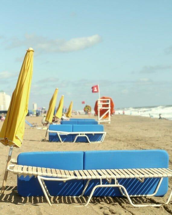 Beach Umbrellas and Chairs Wall Art | Virginia Beach Wall Art