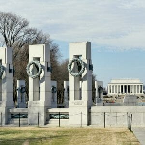 Washington DC Travel Wall Art | Lincoln Memorial | WW II Memorial