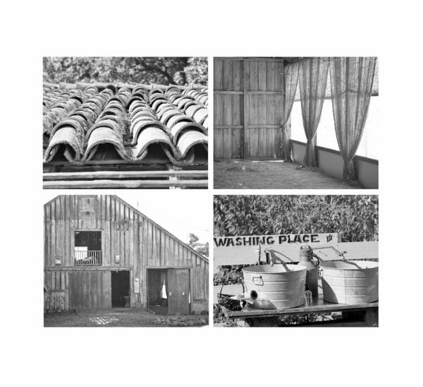 Country Vintage Gallery Set of 4 Farm Prints | Farmhouse Wall Art Pictures